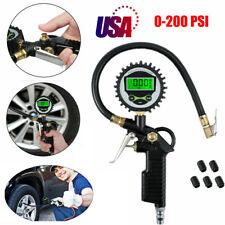 A FEI for Car Truck Air Tire Inflator with Digital Pressure Gauge 200 PSI Air Chuck Hose