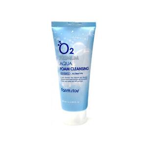 FARM-STAY-O2-Premium-Aqua-Foam-Cleansing-100ml-BEST-Korea-Cosmetic