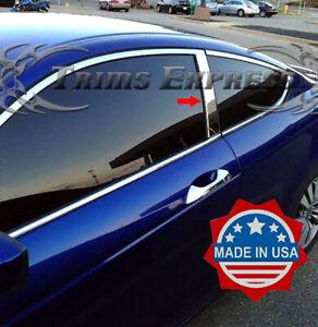 2008-2012-Honda-Accord-Coupe-2Pc-Chrome-Pillar-Post-Trim-Stainless-Steel