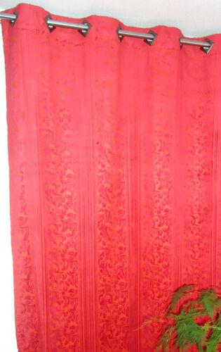 Vorhang Dekoschal Store mit Ösen 145cm x 260cm Barock Stil schwarz oder braun
