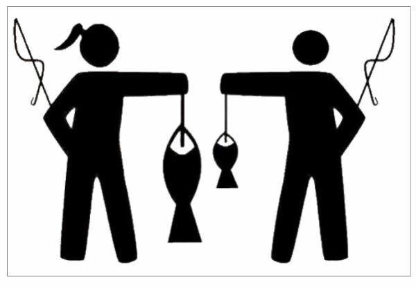 """100% Vero Decalcomania Per Il Pescatore """"lei & Il Suo"""" Disponibile In Qualsiasi Colore Rimozione Dell'Ostruzione"""