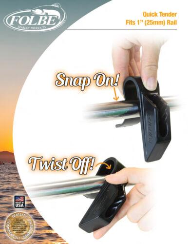 """F035 Folbe 1/"""" 25mm Boat Fender Hanger Adjuster Clip Rails Cleats Set of 2"""