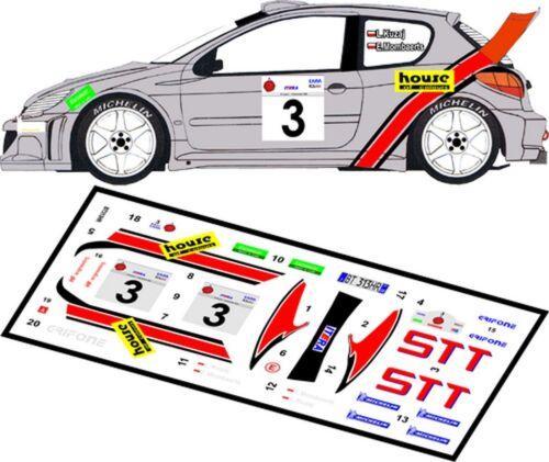 DECALS 1//43 PEUGEOT 206 WRC  #3 KUZAJ MFZ D43009 RALLYE ELPA 2002