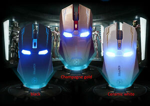 Iron Man Wireless Game Mouse USB 2.4G 3D 2400 DPI 3 Colors
