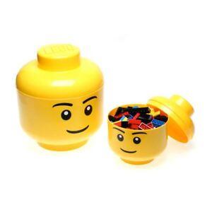 LEGO-Cabeza-Nino-Grande-Ninos-Juguetes-almacenaje-AMARILLO