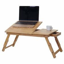 Laptoptisch HWC-B81, Notebooktisch Betttisch Klapptisch mit Lüfter, Bambus