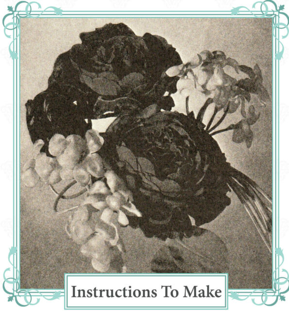 How to make vintage fabric flowers- illustrated book on CD-free UK postage