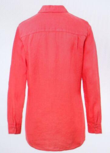 Größe Leinen Moderne Etikett Brax 48 Krempeloption Neu Mit Coral Bluse H15Yxqv