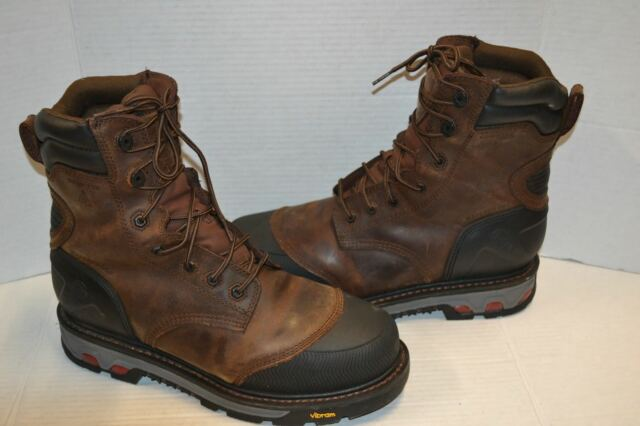 6f13ff7cf78 Justin Work BROWN Boots Mens insulated WARHAWK Lacer WK261 WATERPROOF 12 D  COMP