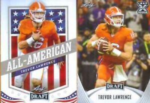 2021 Trevor Lawrence Leaf Draft Football Rookies + All American player cards (2)