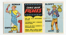 A&BC gum card Comic Book Foldees #13 Unfolded Export Version Supergirl