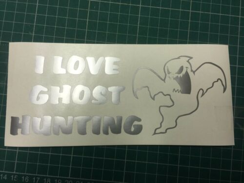 I Love Ghost Hunting Sticker decal