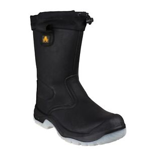 Amblers-FS209-Black-Tie-Top-Rigger-Botas-De-Seguridad