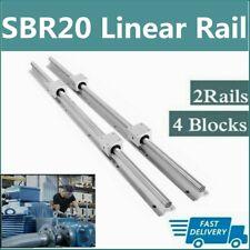 2x Sbr20 200mm 2200mm Linear Silde Rail Guide Shaft4x Sbr20uu Bearing Block Set
