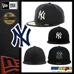 NEWERA New York YANKEES GAME 59FIFTY Fitted Caps MLB Field Hats NAVY ... c809dbf71d1