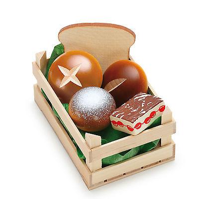 Wooden pretend role play food kitchen shop: Bakery Doughnuts Set *NEW!* Erzi