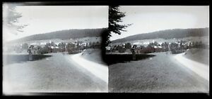 Suisse O Francia Montagne c1920 Foto Negativo Placca Da Lente Stereo Vintage n9