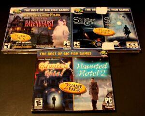 Lot Of Three(3) BIG FISH Games(2 Games Per Disc) PC DVD-ROM Computer Games