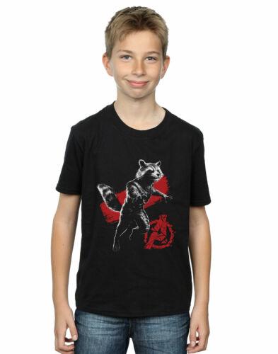 Marvel Garçons Avengers Issue Mono Rocket T-Shirt