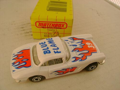 1983 Matchbox Superfast #71 1962 62 Corvette Blau Flamme Neu IN Verpackung