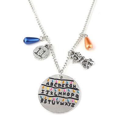 Stranger Things Alphabet Light Wall Pendant Collier Demogorgon Charm Gift