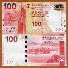 Hong Kong, $100, 2016, BOC, P-343-New, UNC