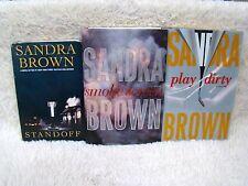 Lot of 3 Sandra Brown Hardback Books, Standoff, Smoke Screen and Play Dirty