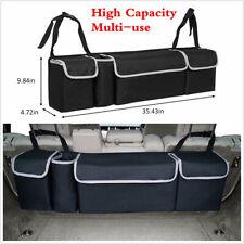 High Capacity Multi Use Car Seat Back Organizers Bag Interior Accessories Black Fits 1999 Mitsubishi Mirage