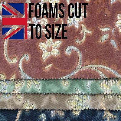 Floral thick velvet Upholstery material / fabric green