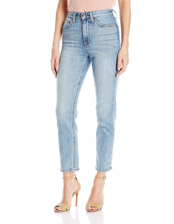 Joe's Jeans The Debbie High Rise Straight Ankle Denim Pants Reiz 32  189