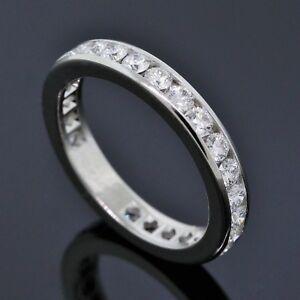 76e612196 Tiffany&Co. Platinum 1.04CTW Diamond Full Circle 3mm Wedding Band ...