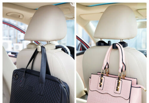 2× Universal Vehicle Car Back Seat Holder Hook Headrest  Bag Purse Hanger Beige