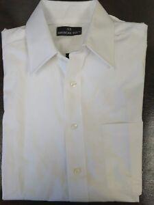 'american Boy' Hommes Mélange De Coton Manches Longues Blanc Chemise Habillée Doux Et AntidéRapant