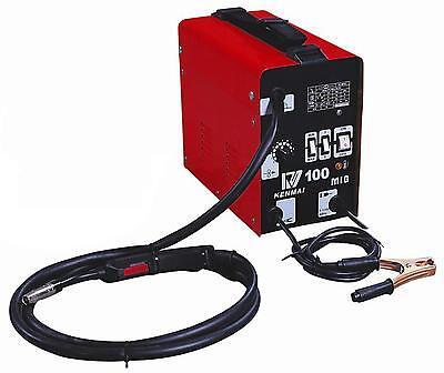 MIG 100 Flux Wire WELDING MACHINE 220V WELDER Auto Feeding Torch US Plug Gift MO