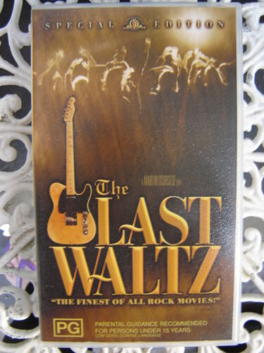 THE LAST WALTZ THE FINEST OF ALL ROCK MOVIES MARTIN SCORSESE AS NEW VHS VIDEO