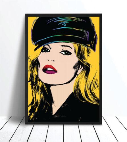 pint Kate Moss Pop Art Print Poster Unframed Art Print Yellow Art