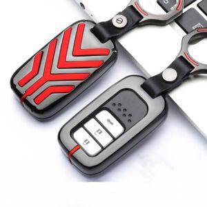 Zinc-Alloy-Car-Smart-Remote-Key-Cover-Chain-Case-Fob-For-Honda-Accord-Civic-CRV