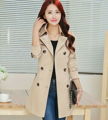 Korean Women Belt Slim Fit Double Breasted Trench Coat Spring Windbreaker Casual Ebay After having two kids, housewife jung da yeon, 46, used to. ebay