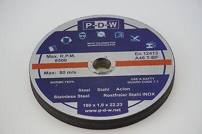 Edelstahl 10 X 180 mm Trennscheiben INOX 1,8mm Metall