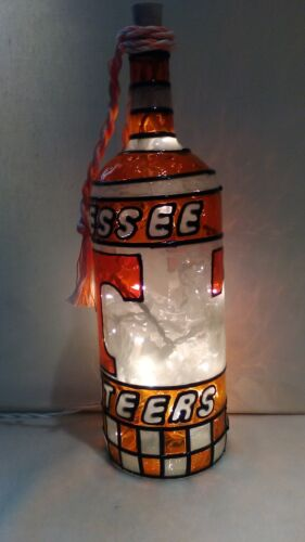 Tennessee Volunteers Inspired Wine Bottle Lamp Lighted Handpainted