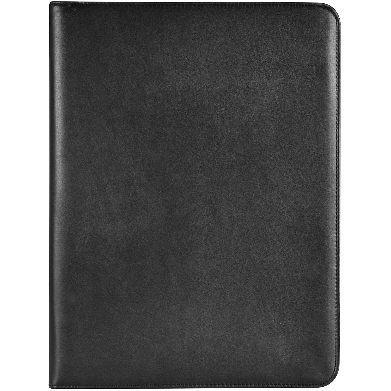 Dermata Schreibmappe VI Collegemappe Dokumententasche Leder 35,5 cm (schwarz) | Schön und charmant  | Exquisite (mittlere) Verarbeitung  | Ideales Geschenk für alle Gelegenheiten