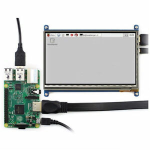 """7/"""" USB Capacitive Touch Screen LCD Display 1024x600 HDMI For Raspberry Pi B+//Pi2"""