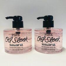 672b992c8ccbb 2 Victoria's Secret Pink Oil Sleek Coconut Oil Nourishing Body Oil 8 Fl.oz  236ml