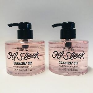 7ee3f160eda28 2 Victoria s Secret Pink Oil Sleek Coconut Oil Nourishing Body Oil 8 ...
