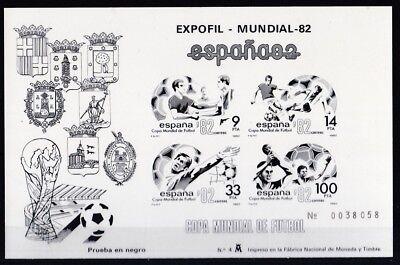 Sport & Spiel WunderschöNen Spanien 1982 Postfrisch Minr Block 25-26 Schwarzdruck Expofil-mundial 82 Eine GroßE Auswahl An Farben Und Designs Motive