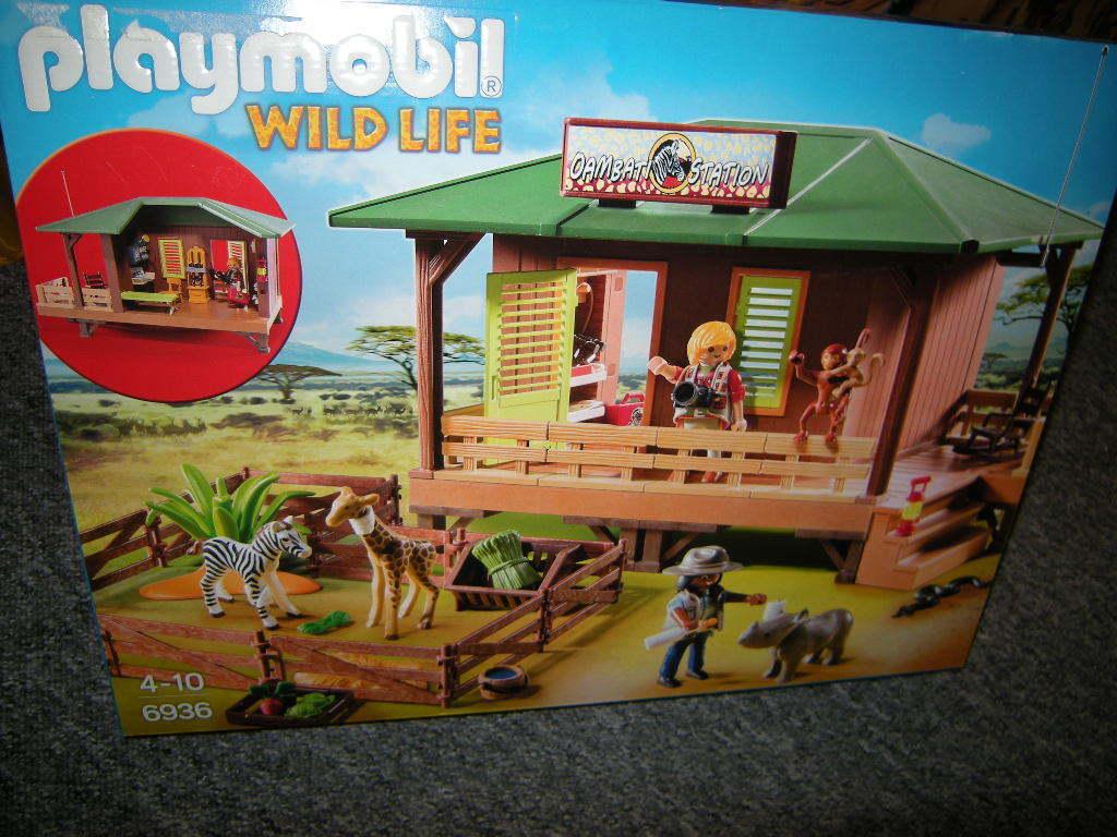 Playmobil Wild Life Rangerstation mit Tieraufzucht 4-10 Jahre Nr. 6936 OVP