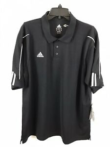 Adidas-Clima-Cool-Mens-Black-and-White-Short-Sleeve-Polo-Shirt-Size-L-NWT