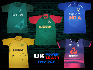 b2797352e CRICKET T SHIRT TEAM SUPPORTER JERSEY 2019 BANGLADESH PAKISTAN INDIA ...