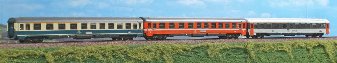 Acme 55101 db SNCF FS set tren bala  d252 253 paris-Frankfurt 1974 75  3-pzas.