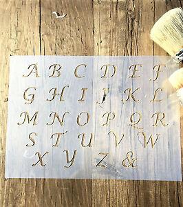 Italic Letters Stencil Old English Lettering Stencil ABC Lower Case  Stencil